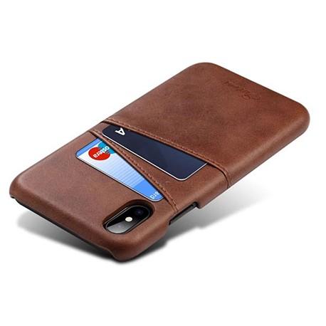 étui arrière style vintage en cuir pour iPhone 8